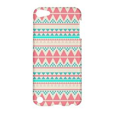 NEW iPod Touch 5 Case Beautiful PINK Aztec by SephiaAndromeda