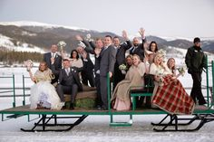 a sleigh ride for the wedding party #winter #sleigh  Photography: Laura Murray Photography, www.lauramurrayphotography.com/
