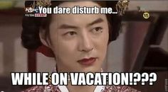 shintroll:  You dare to disturb me while on vacation?