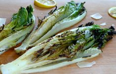 Grilled Romaine Hearts |  Made with Parmesan Cheese | Delicious & Savory | Only 40 Calories if You Minimize Oil Used | For MORE RECIPES, fitness & nutrition tips, please SIGN UP for our FREE NEWSLETTER www.NutritionTwins.com