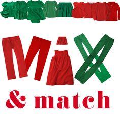 A Kids' Christmas Capsule Wardrobe - The Good Taste Guide Cute Christmas Pajamas, Kids Christmas, Mix N Match, Capsule Wardrobe, Festive, Pajama Pants, Holidays, Children, Green