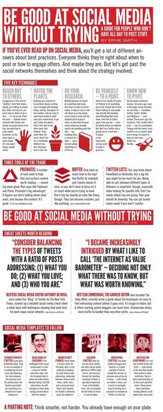 How to be good at social media without trying #infographic