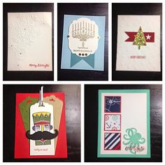 Handmade Cards from Stampin' Up! Unite Excite Livermore - Swaps Part Deux  - round up of the other swap cards from the Stampin' Up! event Cardmaking ideas 2014 Catalog Holiday
