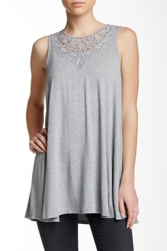 Olivia Sky - Crochet Neck A-Line Tank at Nordstrom Rack. Free Shipping on orders over $100.