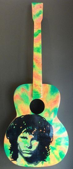 Jim Morrison Painted Guitar