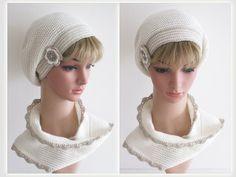Rico Design, Winter Hats, Crochet Hats, Beanie, Fashion, Winter White, Scarf Crochet, Step By Step Instructions, Flower Crochet