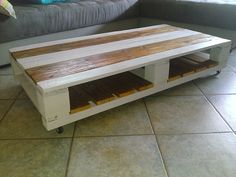 Grey Lounge Table #CoffeeTable, #PalletFurniture, #RecycledPallet