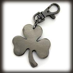 Clover Metal Keychain hanmade by WATTO Distinctive Metal Wear   $15.00 https://www.etsy.com/listing/58394765/clover-keychain-by-watto-distinctive  #Irish #Celtic #Shamrock #key chain