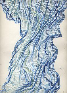 Wave (Blue) (by Tom Moglu) # Linear lines