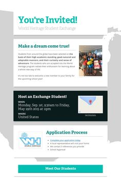 You're Invited!  Host an exchange student!