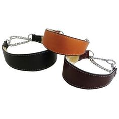 So luxurious... Wide Leather Martingale Dog Collar with sheepskin Lining