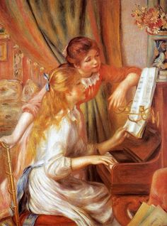 Girls at the Piano Pierre Auguste Renoir - 1892