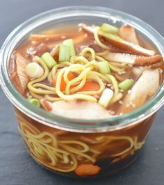 Hearty Beef & Mushroom Ramen in a Jar. Easy to prepare in advance if you like, for fast eating when you need it later.