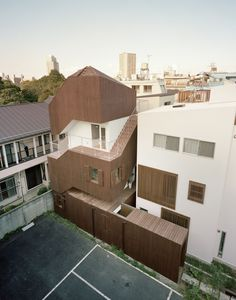 "Completed in 2011 in Taito, Japan. Images by Kai Nakamura. ""Double Helix House"" is a small house which is located in Yanaka, Tokyo.  There are many old wooden houses and historical temples which were left..."
