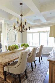Vanno molto di moda, definiscono bene lo spazio del tavolo da pranzo e delle sedie e gli donano un aspetto caldo e familiare. Eppure è una s...