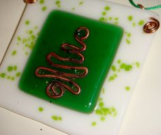 Christmas hanging ornament  fused glass and by GeckoGlassDesign, $30.00