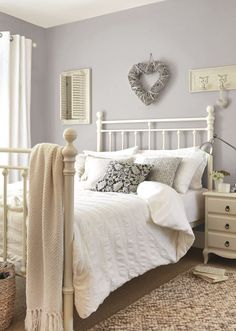 Chalk Cottage Bedroom If you like this pin, why not head o. Chalk Cottage Bedroom If you like this pin, why not head on over to get similar inspiration and join our FREE home design resource library at www. Gray Bedroom, Home Decor Bedroom, Bedroom Furniture, Master Bedroom, Spare Room Decor, Furniture Ideas, Country Furniture, Country Decor, Country Cottage Bedroom