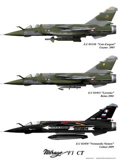 The Dassault Mirage is a French fighter and attack aircraft designed and manufactured by Dassault Aviation. It was developed as a successor to the popular Mirage III family. Airplane Fighter, Fighter Aircraft, Fighter Jets, Military Jets, Military Aircraft, Mirage F1, Iai Kfir, Dassault Aviation, Old Planes