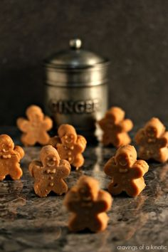 Mini Gingerbread Fudge   Amazing gingerbread fudge shaped like tiny gingerbread men. This fudge recipe has become my favourite of all time. It is bursting with flavour!