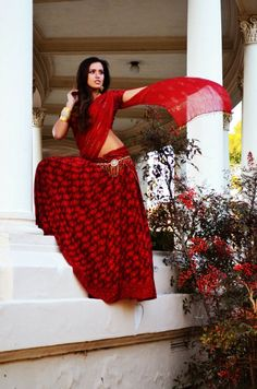 Gopi Skirt Outfit. Red