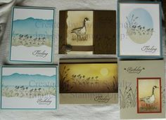 Stampin'Up! Wetlands Group 2 by jreks ... beautiful cards featuring wetands scenes .. all with soft sponged colors ... great artistry!