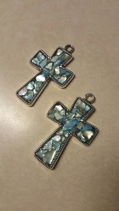 Hand dyed mother of pearl shell mosaic pendants