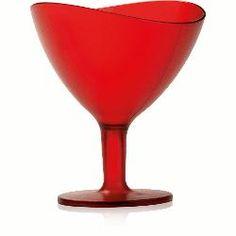 Taça Sobremesa Wave Vermelho 300 Ml