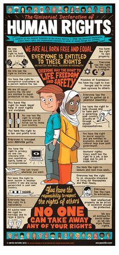 Universal Declaration of Human Rights #socialjustice #SocialJusticeEd #humanrights