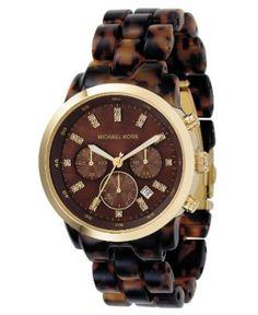 Someone PLEASE tell Santa I need this watch!    Michael Kors Women's MK5216 Chronograph Tortoise Watch: Watches: Amazon.com