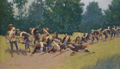 The Scream of Shrapnel at San Juan Hill : Frederic Remington : Impressionism : battle painting - Oil Painting Reproductions Frederic Remington, Canvas Artwork, Oil On Canvas, Canvas Prints, Guerra Hispano-americana, Westerns, The Spanish American War, American History, Rough Riders