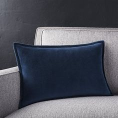 """$30 Brenner Indigo 18""""x12"""" Pillow with Feather-Down Insert 
