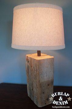 http://www.burlapanddenim.com/2011/09/salvaged-wood-lamp/