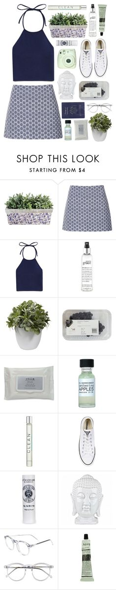 """All around the world"" by child-of-the-tropics ❤ liked on Polyvore featuring Topshop, Forever 21, Passport, philosophy, Nearly Natural, Stila, CLEAN, Converse, Wildfox and Aesop"
