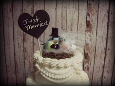 Love Birds Wedding Cake by MorganTheCreator on Etsy, $27.00