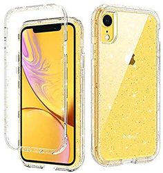 iPhone XR Case, Gold Glitter iPhone XR Clear Cases Three Layer Heavy Duty Hybrid Hard PC Flexible TPU Bumper Shockproof Phone Cover Transparency iPhone XR Protective Case with Gold Flake Bling Design Diy Iphone Case, Iphone 6 Plus Case, Iphone Phone Cases, Phone Cover, Clear Phone Cases, Girly Phone Cases, Glitter Phone Cases, Tablets, Coque Iphone