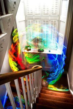 Long Exposures Capture WiFi Signals as Eerie Patterns of Color - My Modern Met