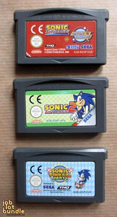 Sonic Advance 1 Sonic Advance 2 & Sonic Pinball Party Gameboy Bundle http://www.joblotbundle.com/collections/video-games/products/sonic-the-hedgehog-gameboy-advance-sp-job-lot-game-bundle-x-3