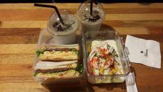 토스트&샐러드&아이스아메리카노