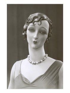 Twenties Female Mannequin with Moue Premium Poster at Art.com