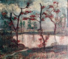 Paul Klee 'Autumn Landscape with a Lake and Trees' Felix Klee Collection, Berne, Switzerland