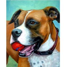 Boxer Dog Print Dog Art 8x10 or 11x14 Painted by by DottieDracos, $12.00