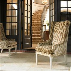 #Caracole: Purrr-Fect.  This multi-purpose contemporized wing chair certainly has animal magnetism!