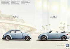 """Father - and Sun"": Kampagne für das VW Beetle Cabrio"