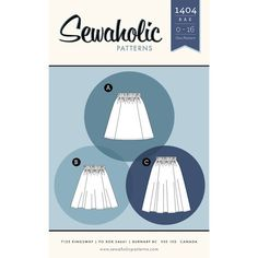 Sewaholic - Rae Skirt pattern   The Rae skirt is designed for true beginners. If you can work a sewing machine and follow directions, you can make this skirt!