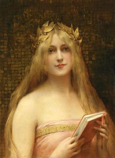 Girl with a Golden Crown. Léon-François Comerre (1850-1916). Oil on canvas. Private collection. Comerre was an academic painter of historical and mythological genre scenes and a portrait painter of the late 19th century famous for his portraits of...