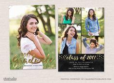 Senior Graduation Card Template by OtoStudio on @creativemarket