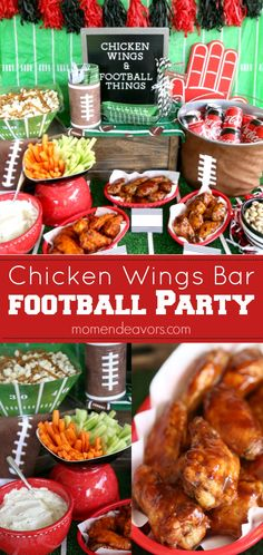 Serve up a chicken wings bar for your next football party - get easy tips and a Coca-Cola® BBQ wings recipe to serve for your next football party or tailgate! #KickoffWithGreatTaste AD Football Party Foods, Football Food, Football Tailgate, Football Birthday, Football Season, Football Parties, Tailgate Parties, Alabama Football, 8th Birthday