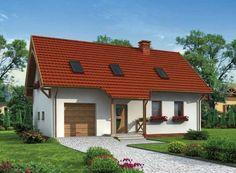 """""""Lamia""""  Projekt domku jednorodzinnego Lamia zachwyca swą prostotą i elegancją."""