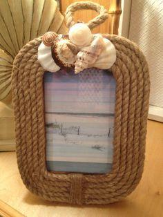 Seashell Nautical Rope Frame/Coastal Photo by MyHoneypickles