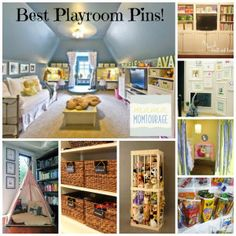 Playroom organization ideas.
